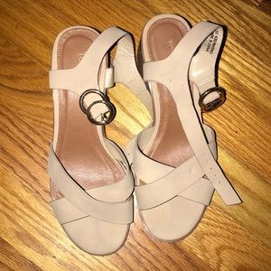 Heeled sandals from Topshop! Wore once only!